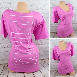 VS PINK Logo Short Sleeve Tunic Comfy Shirt
